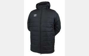 Parka noir UMBRO ESR  - PRO TRAINING COACH JACKET (ref : 510590-60)